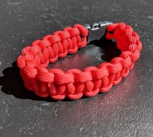 Other - Custom Red Braded Bracelet